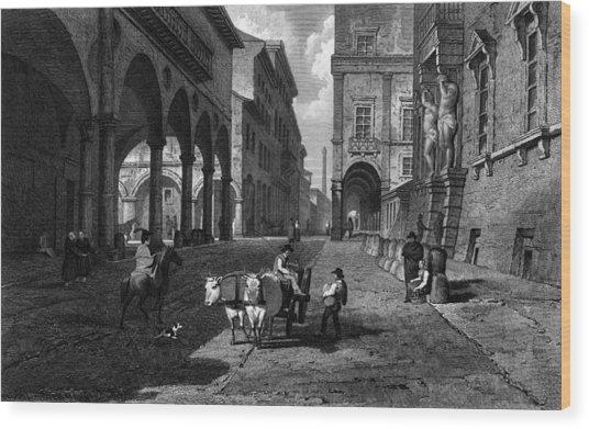Bologna Main Street Wood Print by Hulton Archive