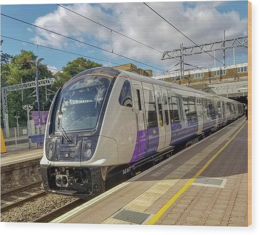 Bombardier Class 345 Aventra Commuter Train At Ealing Broadway Station London England Wood Print