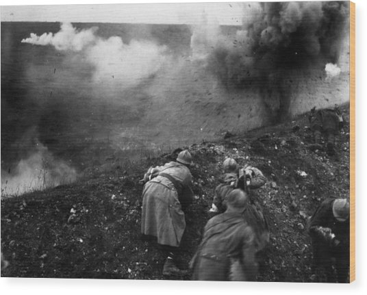 Bombardment Wood Print by General Photographic Agency