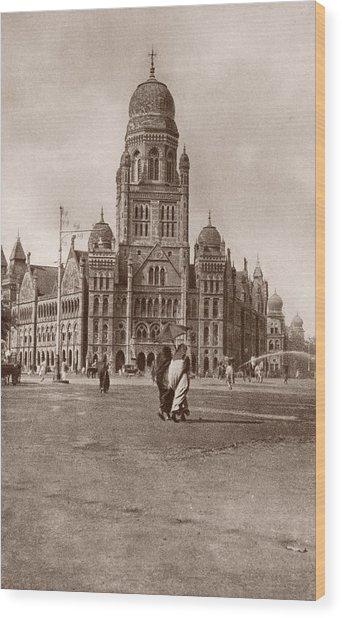 Bombay Municipal Hall Wood Print by Hulton Archive