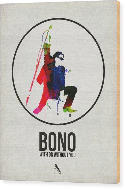 Bono II Wood Print