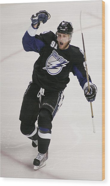 Boston Bruins V Tampa Bay Lightning - Wood Print