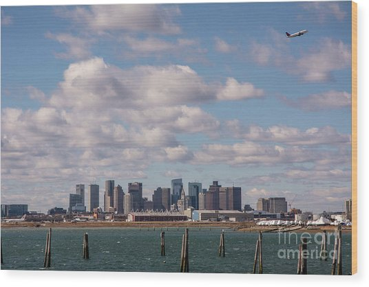Boston Cityscape Wood Print