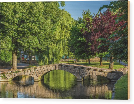 Bourton-on-the-water, Gloucestershire Wood Print by David Ross