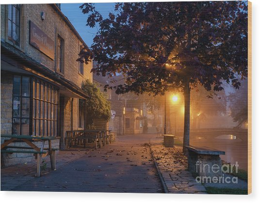 Bourton On The Water October Morning Wood Print by Tim Gainey