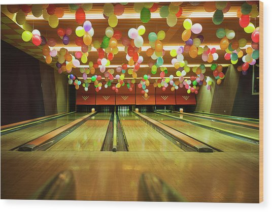 Bowling Wood Print by Olive