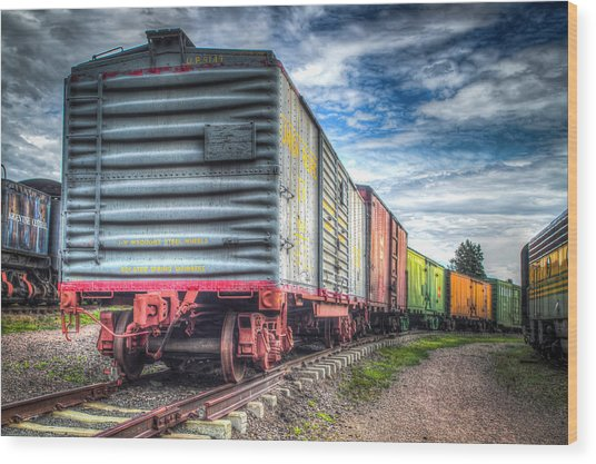 Box Cars Wood Print by G Wigler