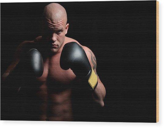 Boxer Wood Print by Vuk8691
