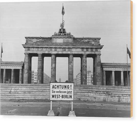 Brandenburg Gate Wood Print by John Waterman