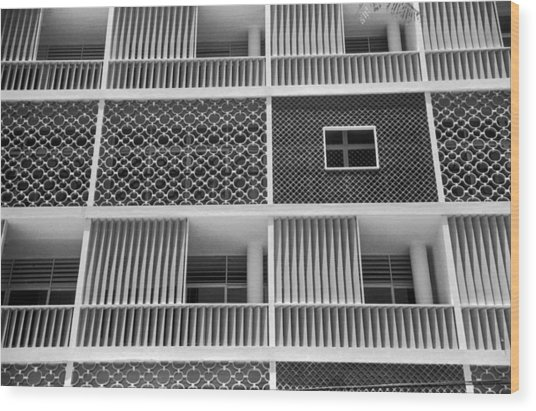 Brazilian Apartments Wood Print by Kurt Hutton