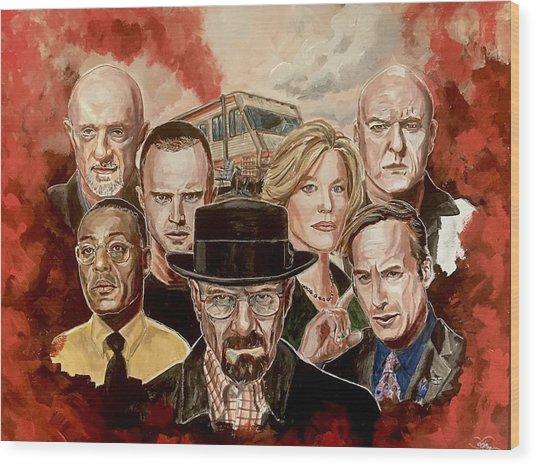 Breaking Bad Family Portrait Wood Print