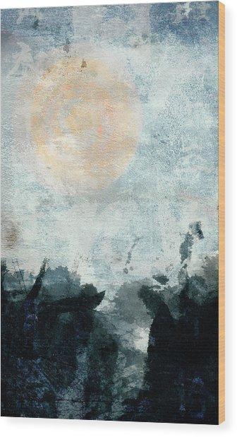 Breakwater Abstract Wood Print