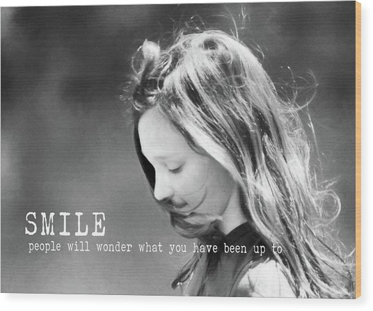 Breeze Quote Wood Print by JAMART Photography