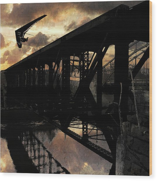 Bridge I Wood Print