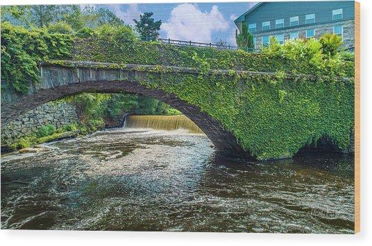 Bridge Of Flowers Wood Print
