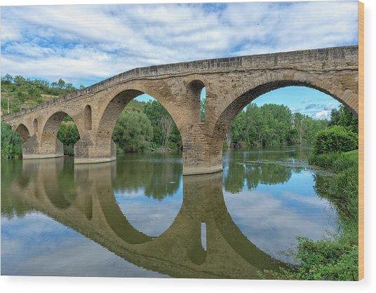 Bridge The Queen On The Way To Santiago Wood Print