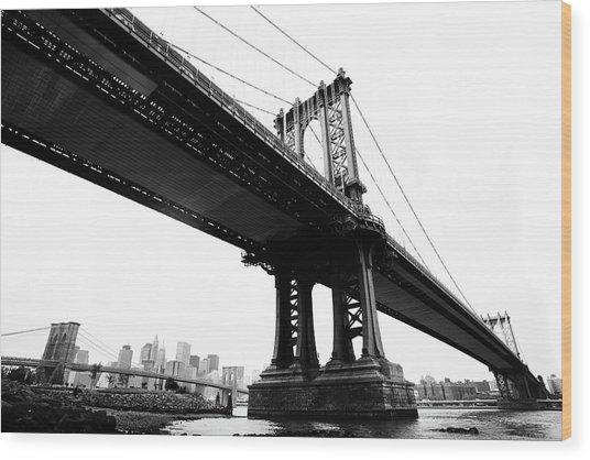 Bridges Wood Print by Blackwaterimages
