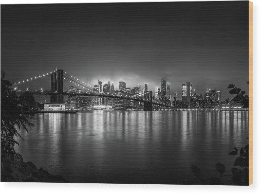 Bright Lights Of New York Wood Print