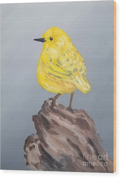 Wood Print featuring the painting Bright Spot by Maria Langgle
