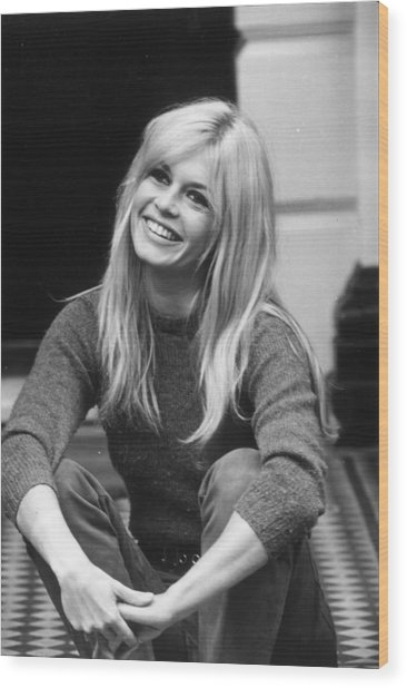 Brigitte Bardot Wood Print by Cattani