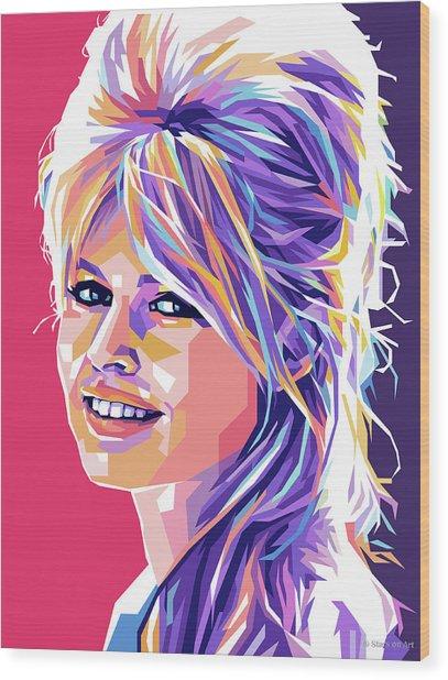 Brigitte Bardot Pop Art Wood Print