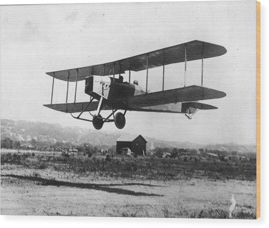 British Bi-plane Wood Print by Hulton Archive