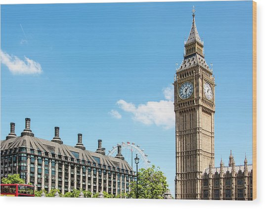 British Government Wood Print by Chris Mansfield