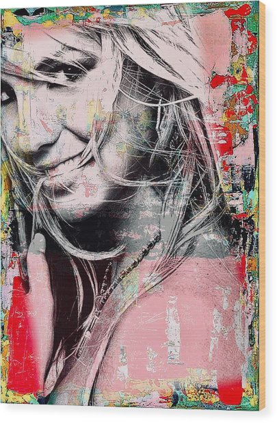 Britney Baby Wood Print