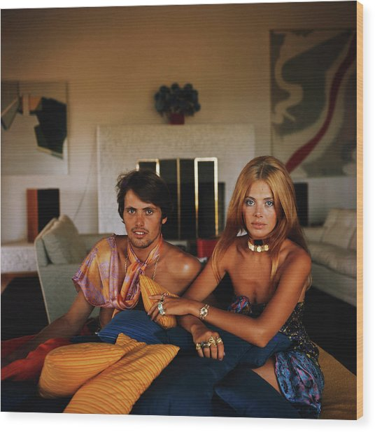 Britt And Her Brother Wood Print by Slim Aarons