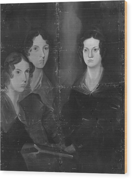 Bronte Sisters Wood Print by Rischgitz