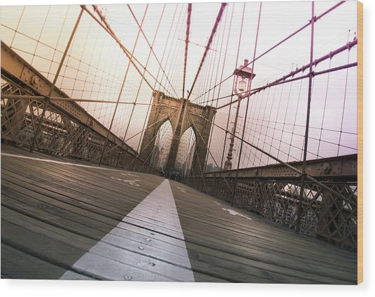 Brooklyn Bridge, New York City Wood Print