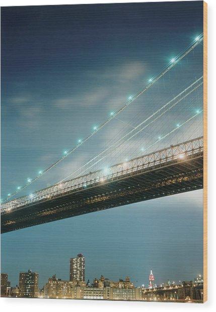 Brooklyn Bridge Wood Print by Silvia Otte