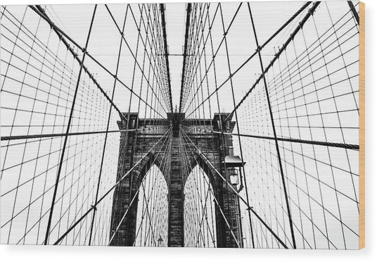 Brooklyn Bridge Web Wood Print