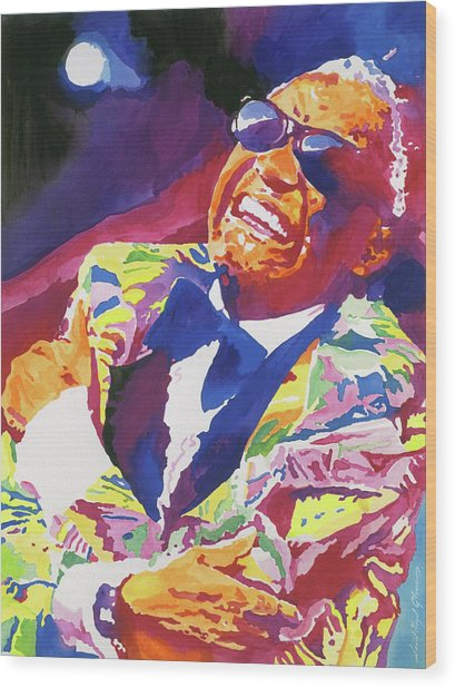 Brother Ray Charles Wood Print