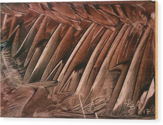 Brown Ladders/steps Wood Print