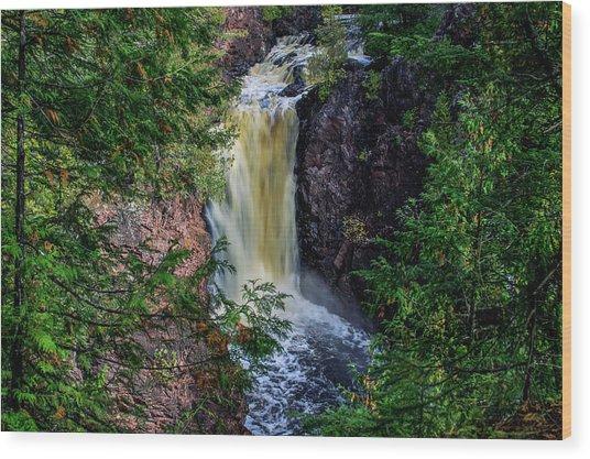 Brownstone Falls Wood Print