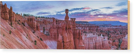 Bryce Canyon Np - Helluva Place To Lose A Cow Wood Print