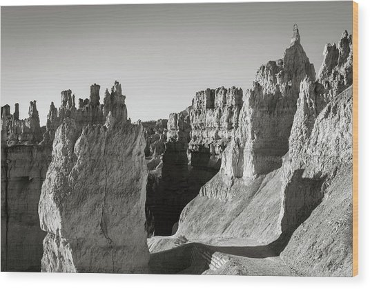 Wood Print featuring the photograph Bryce Canyon Np Ix Bw by David Gordon