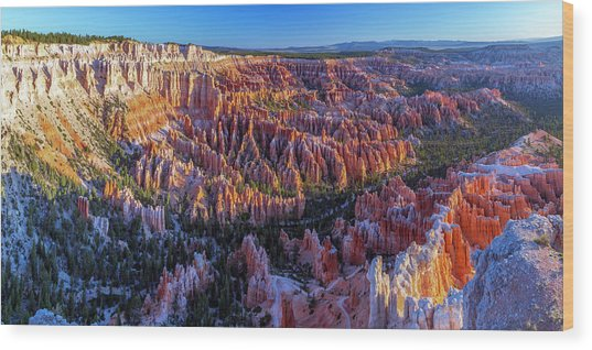 Bryce Canyon Np - Sunrise On Another World Wood Print