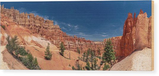 Bryce Canyon Np - Walls, Windows And Hoodoos, Oh My Wood Print