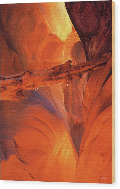 Buckskin Gulch Wood Print by Leland D Howard