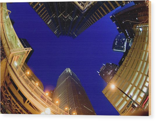 Buildings, Low Angle View Wood Print by By Ken Ilio