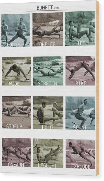Bum Fit Beach Workout  Wood Print