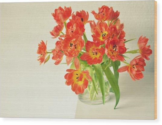 Bunch Of Dutch Tulips Wood Print