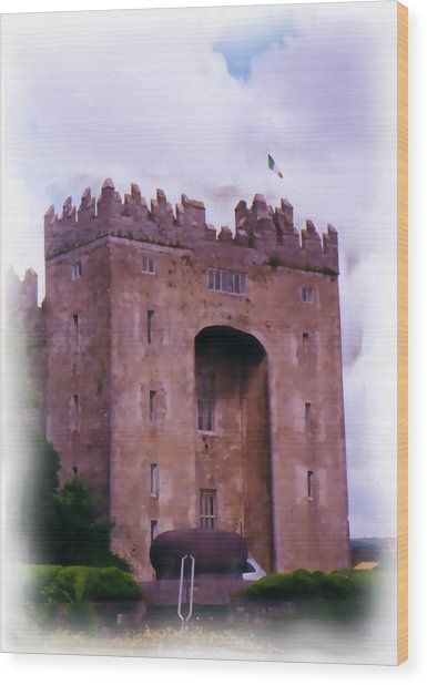 Bunratty Castle Painting Wood Print
