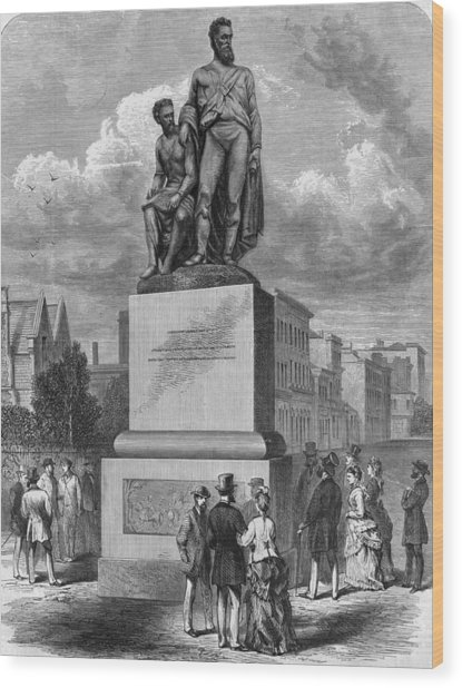 Burke And Wills Statue Wood Print by Hulton Archive