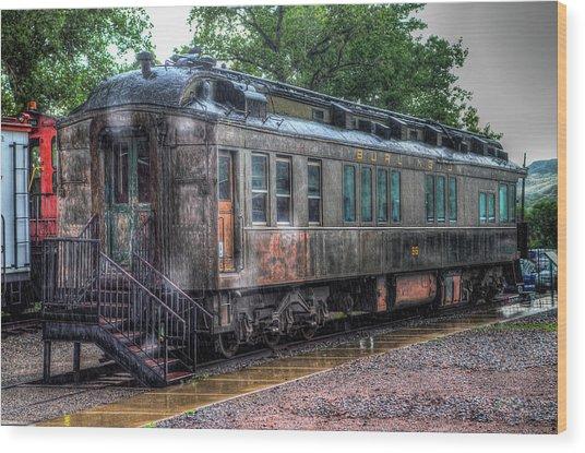Burlington Passenger Car Wood Print by G Wigler