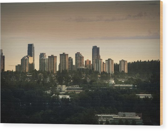 Burnaby Dusk Wood Print