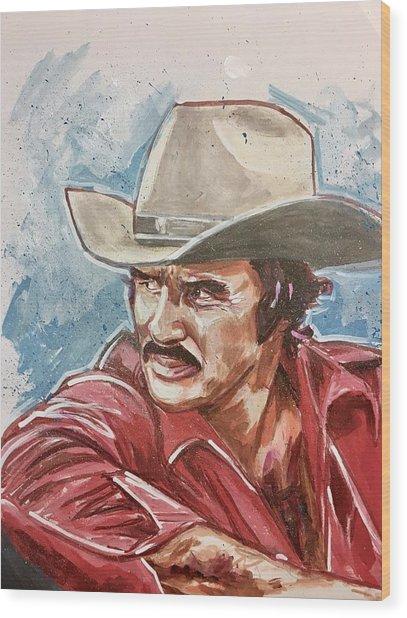 Burt Reynolds Wood Print