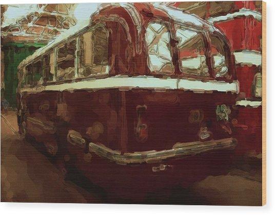 Bus 101 Painting Wood Print